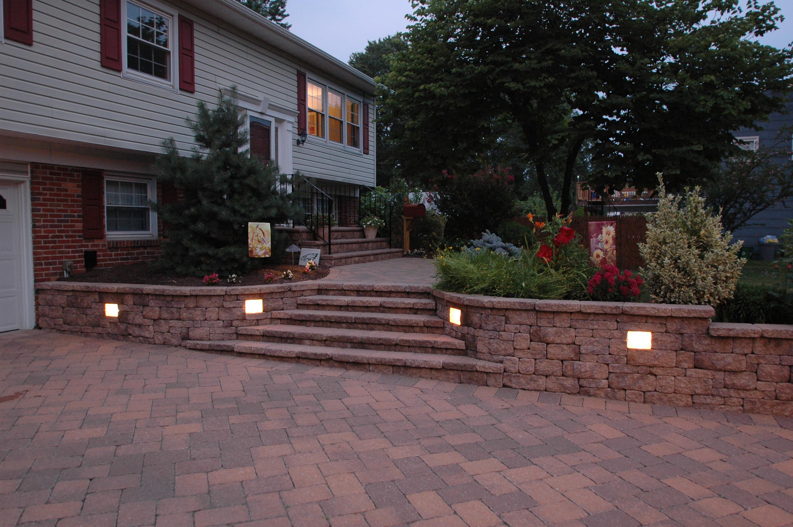 Lovely Driveway Pillars with Lights